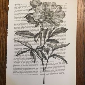 Other - Vintage Peony Book print